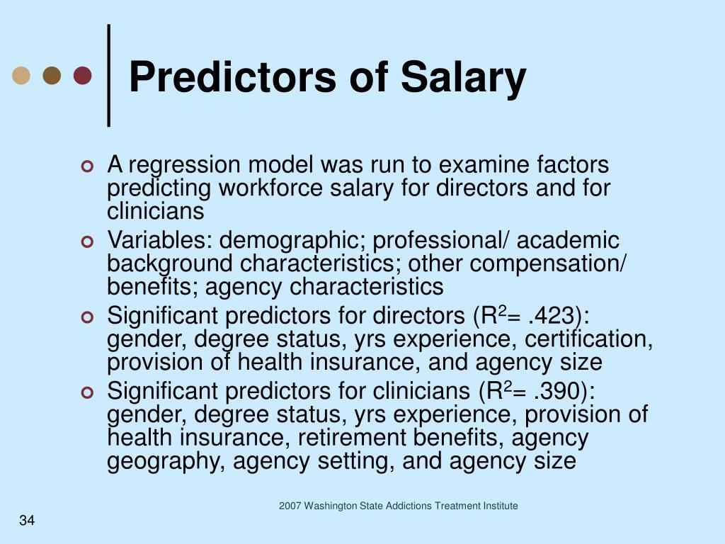 Predictors of Salary