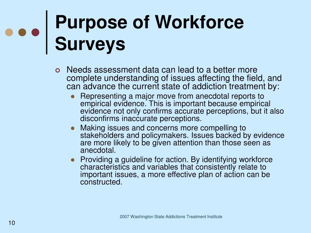 Purpose of Workforce Surveys