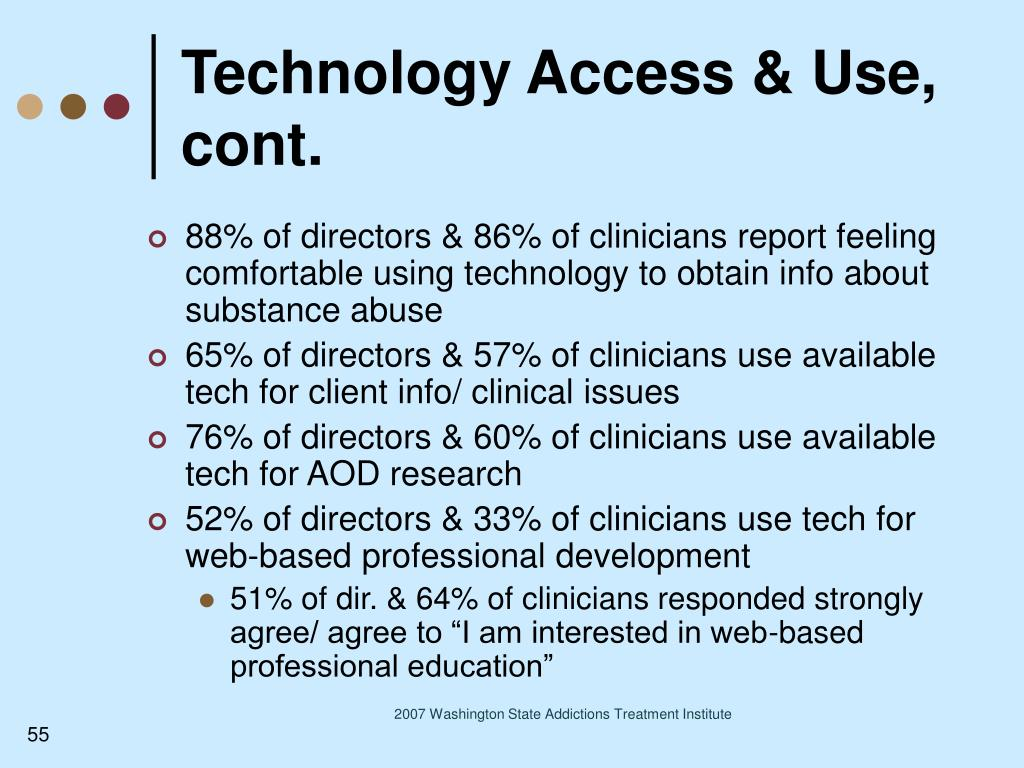 Technology Access & Use, cont.