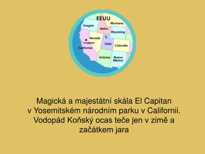 Magická a majestátní skála El Capitan