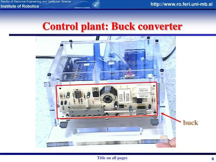 Control plant: Buck converter