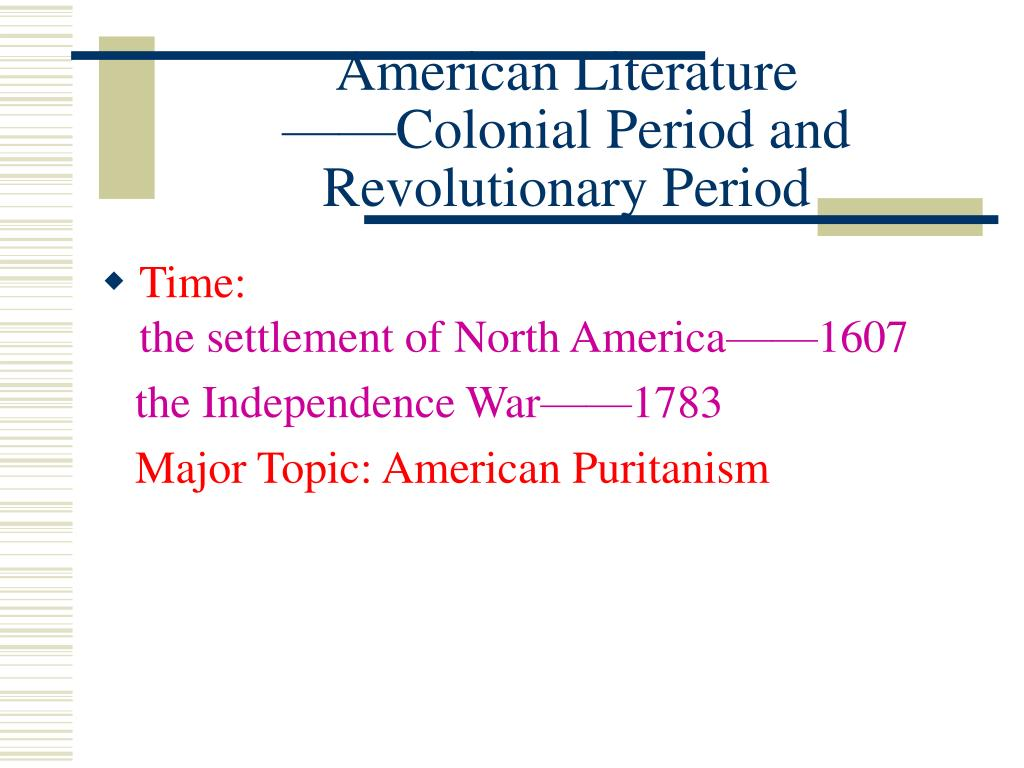 revolutionary period A timeline of the events of the american revolution, from the french and indian war up through the drafting and ratification of the constitutuion.