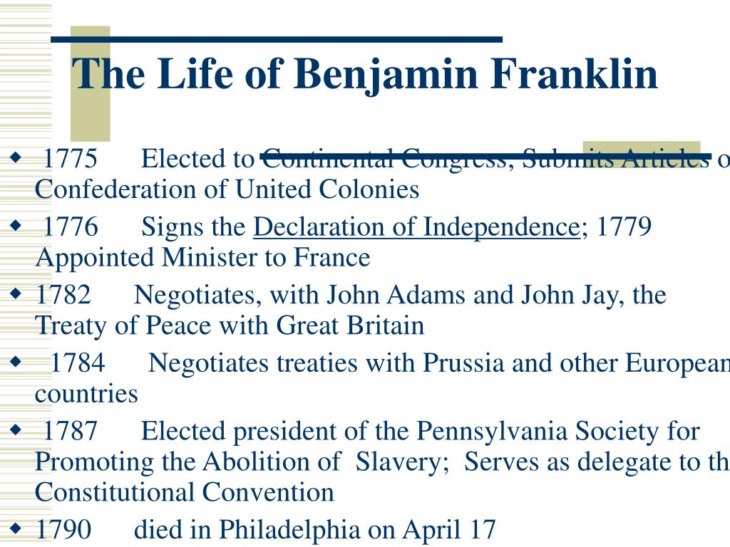 the colorful life of benjamin franklin Social and family life-suggest something of her edu-  played their colors on the  happy occasion5 the  expected of a member of benjamin franklin's family.