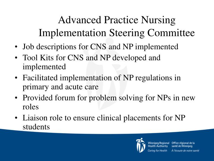 Advanced Practice Nursing Implementation Steering Committee