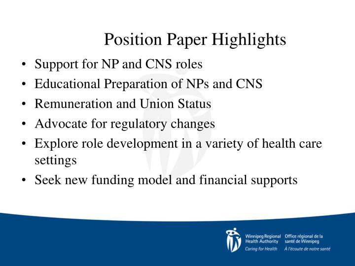 Position Paper Highlights