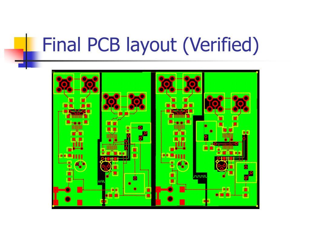 Final PCB layout (Verified)