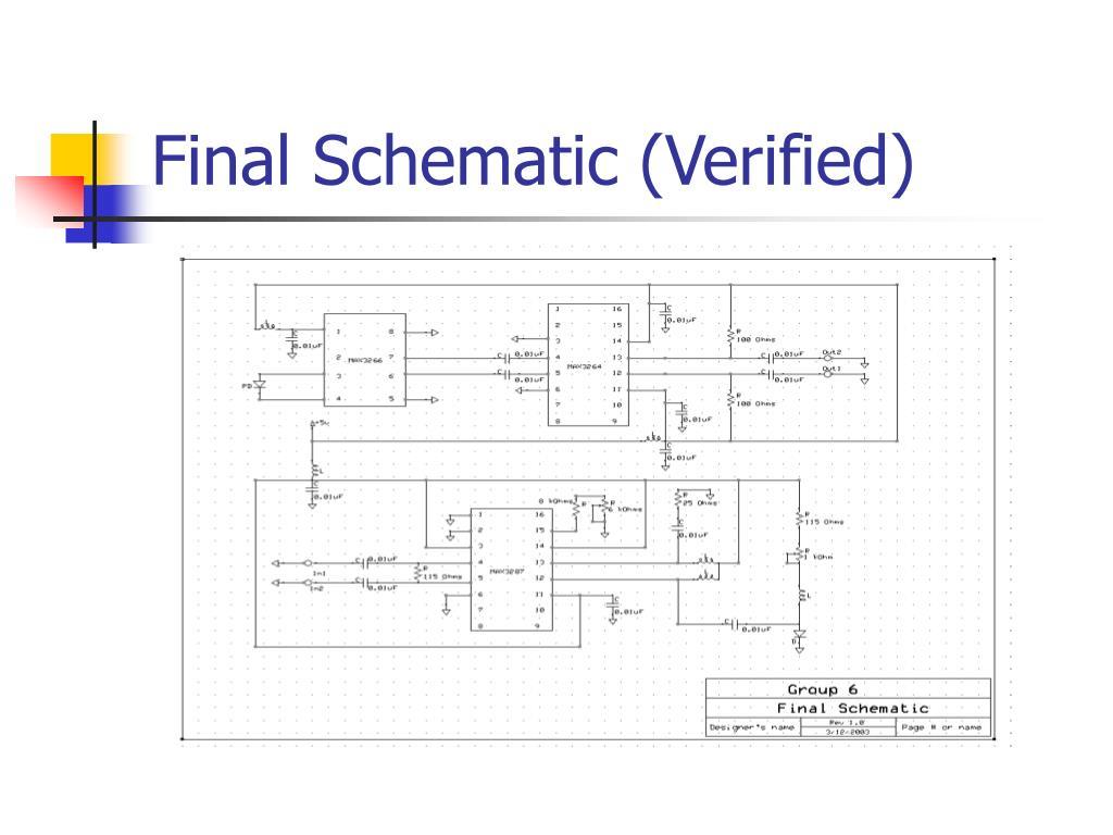 Final Schematic (Verified)