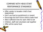 compare with head start performance standards