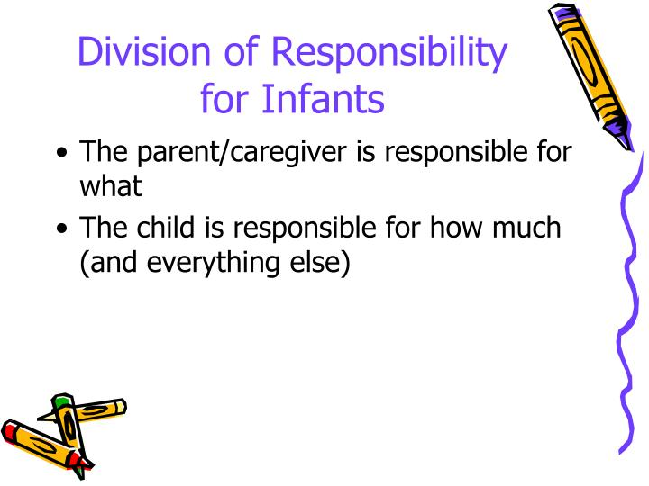 Division of Responsibility for Infants