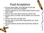 food acceptance