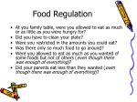 food regulation