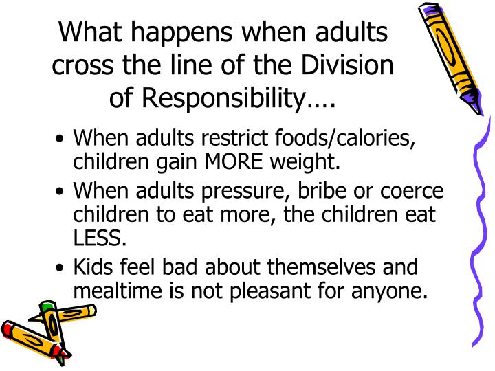 What happens when adults cross the line of the Division of Responsibility….