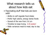 what research tells us about how kids eat