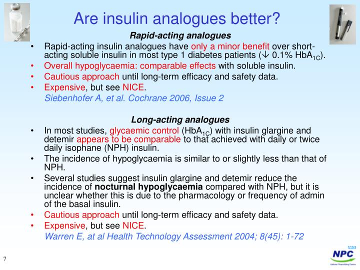 Are insulin analogues better?