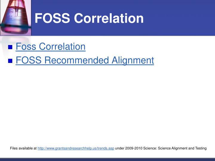FOSS Correlation