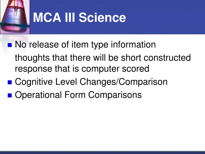 MCA III Science