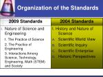 organization of the standards