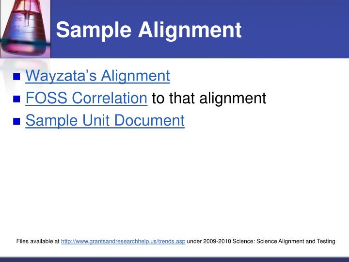 Sample Alignment