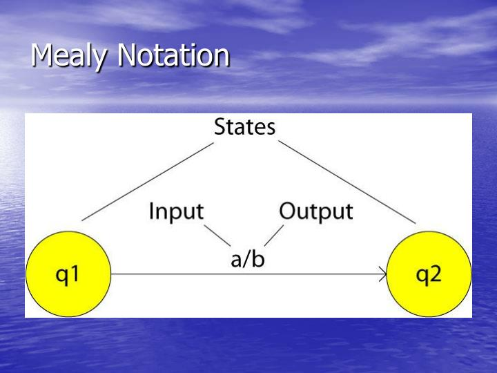Mealy Notation