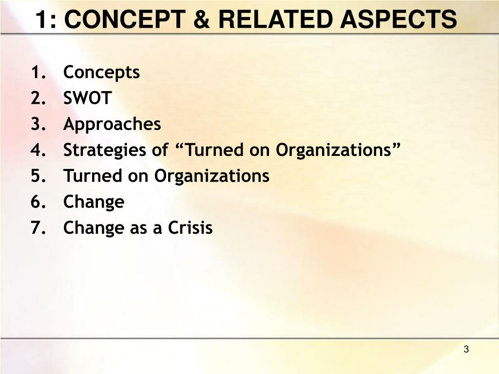 1: CONCEPT & RELATED ASPECTS