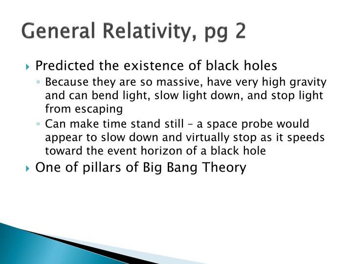 General Relativity, pg 2