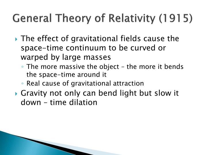 General Theory of Relativity (1915)
