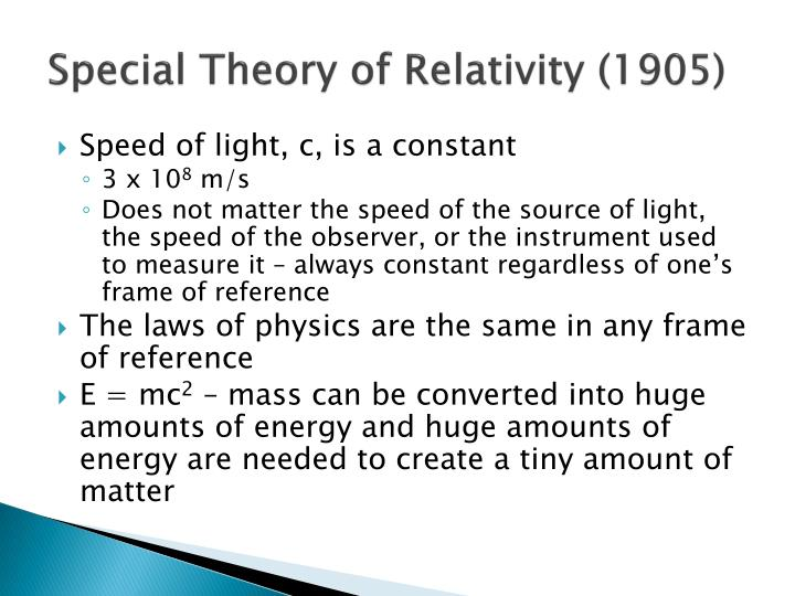 Special Theory of Relativity (1905)