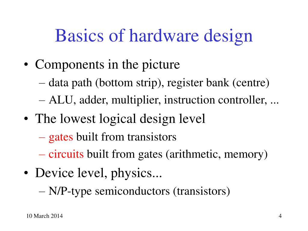 Basics of hardware design