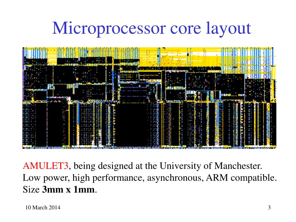 Microprocessor core layout