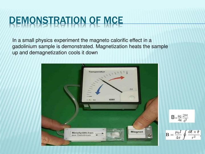 Demonstration of MCE