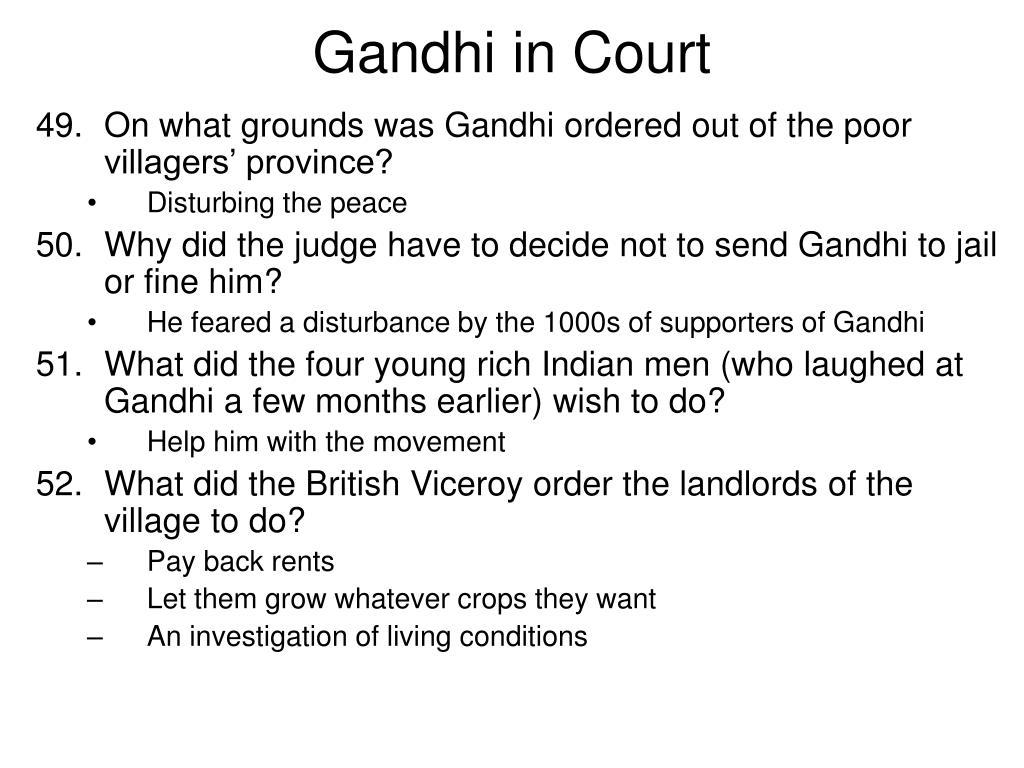 Gandhi in Court