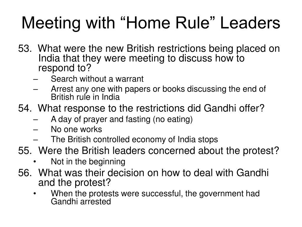 "Meeting with ""Home Rule"" Leaders"