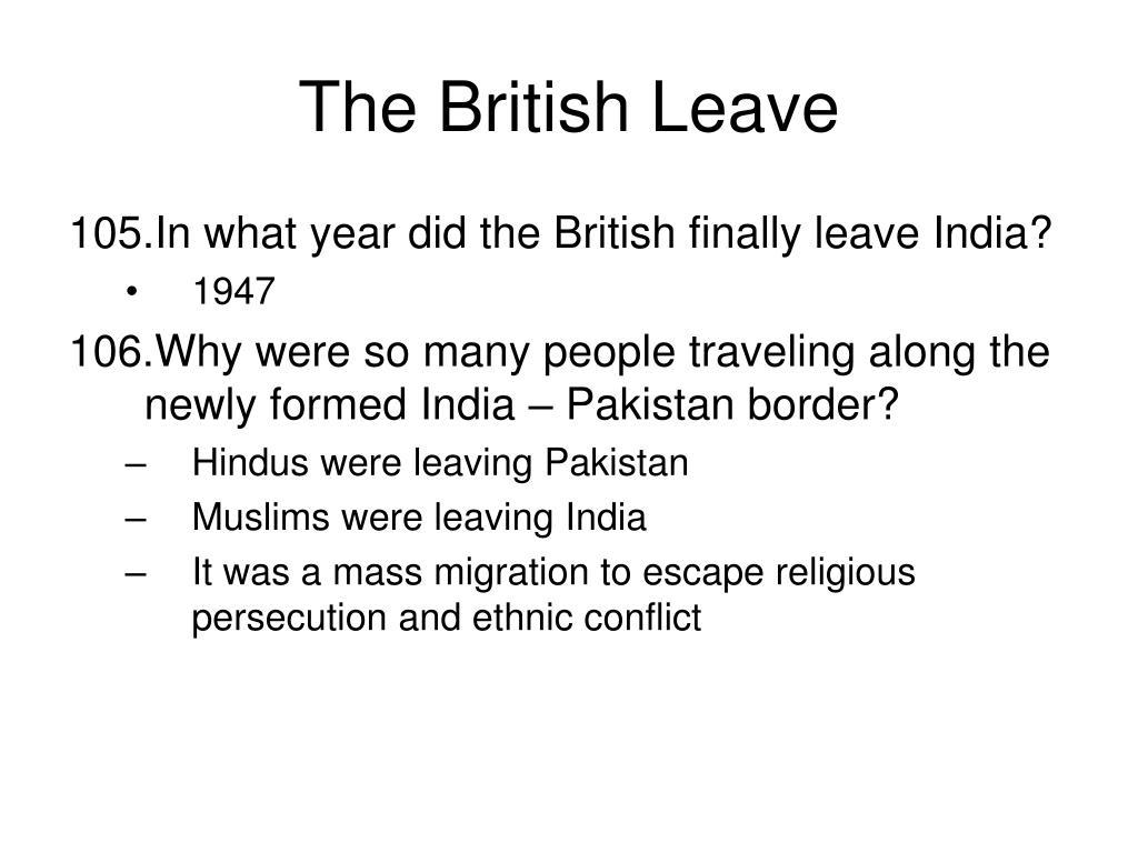 The British Leave
