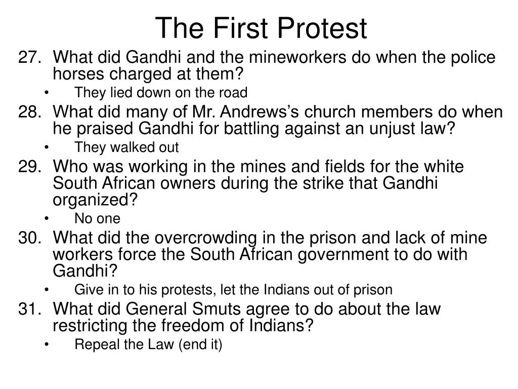 The First Protest