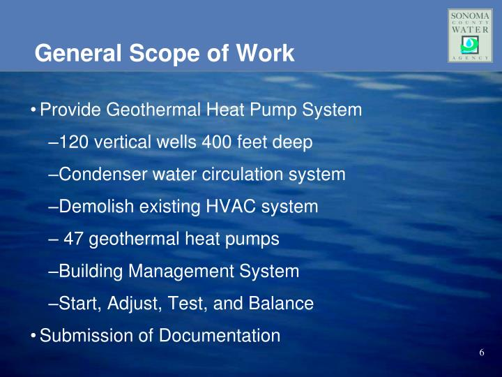 General Scope of Work