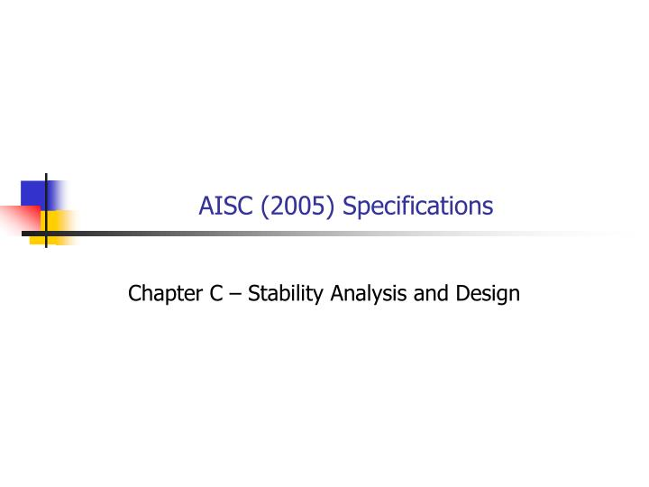 AISC (2005) Specifications