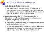 c2 calculation of load effects