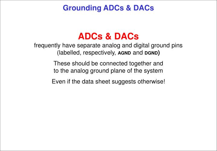 Grounding adcs dacs2