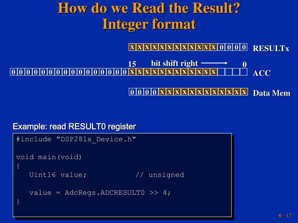 How do we Read the Result?