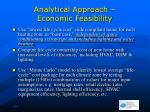 analytical approach economic feasibility