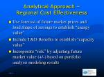 analytical approach regional cost effectiveness