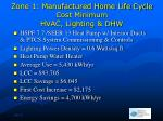 zone 1 manufactured home life cycle cost minimum hvac lighting dhw