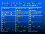 zone 2 life cycle cost minimum regional cost effective thermal shell packages