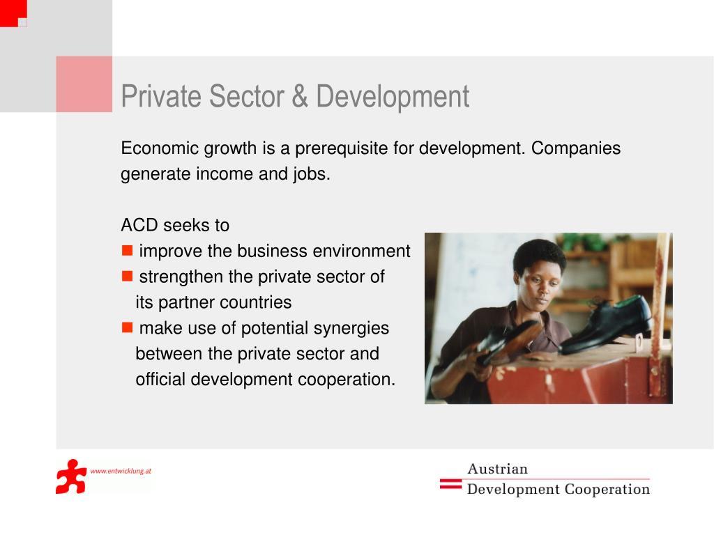 Private Sector & Development