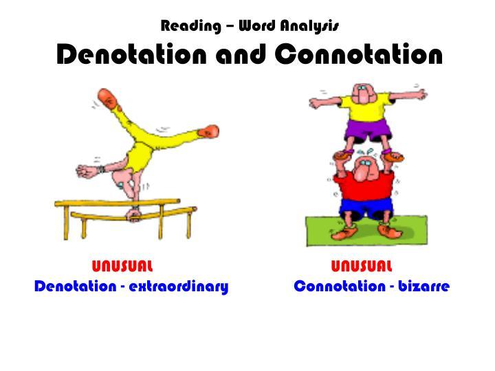 Reading – Word Analysis