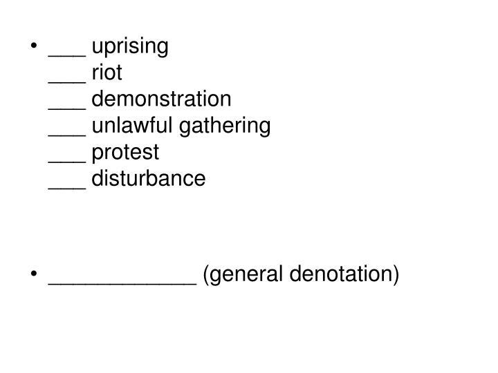 ___ uprising