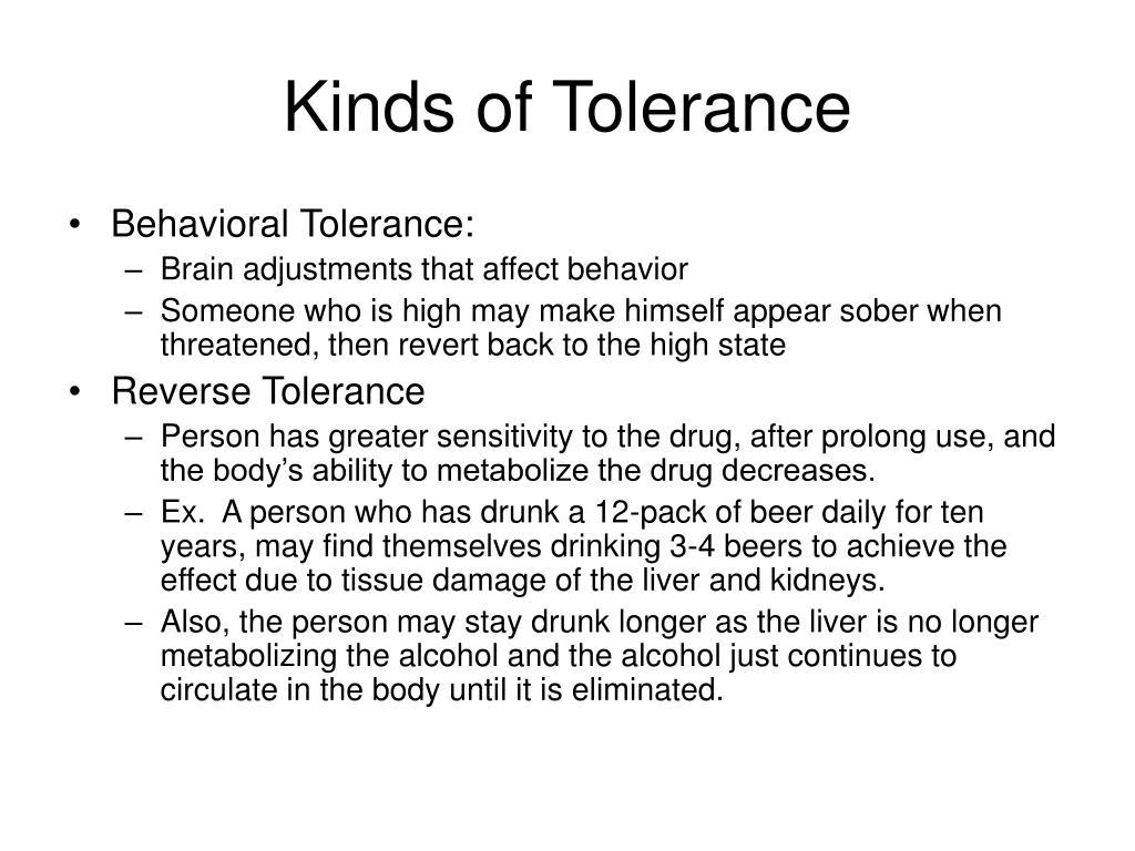 Kinds of Tolerance