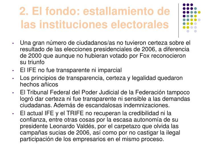 2. El fondo: estallamiento de las instituciones electorales