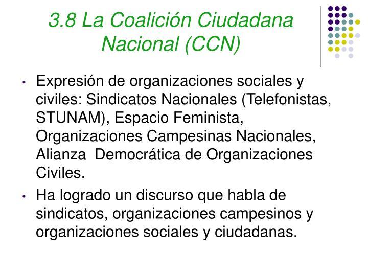 3.8 La Coalición Ciudadana Nacional (CCN)