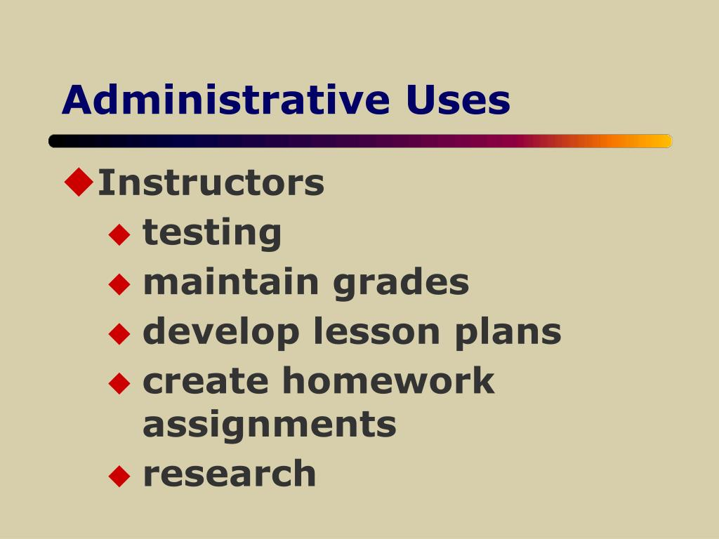 Administrative Uses